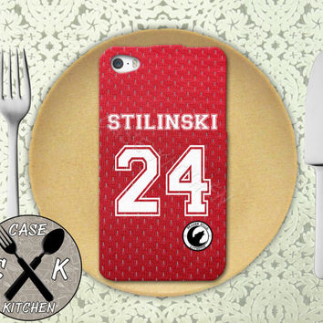 Teen Wolf Inspired Stiles Stilinski Lacrosse Jersey Beacon Hills Rubber Tough Phone Case For The iPhone 4 and 4s and iPhone 5 and 5s and 5c