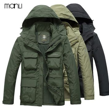 MANLI Brand Autumn Men's Hiking Jackets Softshell Waterproof Outdoor Sport Warm Coat Hiking Camping Trekking Male Clothes
