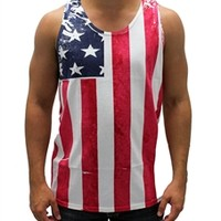 Men's Vertical American Flag Tank Top | TheFlagShirt.com