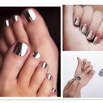 Mirror Nail Polish Plating Silver Paste Metal Color Stainless Steel Mode Femme