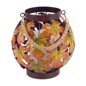 Falling Leaves Collection Maple Leaf Cut Out Lantern