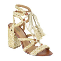 MIA Shoes Gigi Lace Up Heels