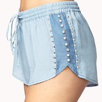 Standout Chambray Dolphin Shorts | FOREVER 21 - 2077985121