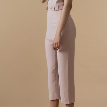 Sleeveless Belted Jumpsuit