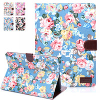 WeFor Case For Apple iPad Air 2 Cover Cases Flip Smart Stand Cover Fundas w/Card Slot w/Stylus Pen