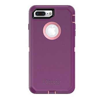 OtterBox DEFENDER SERIES Case for  iPhone 8 Plus & iPhone 7 Plus (ONLY) - Retail Packaging - VINYASA (ROSMARINE/PLUM HAZE)