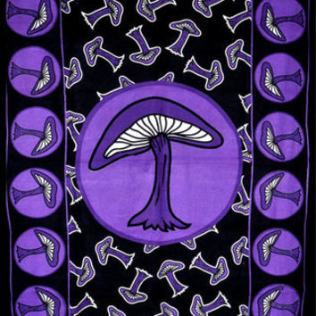 Purple Mushroom Tapestry - purple wall tapestry, hippie tapestry, mandala tapestry, boho bohemian tapestry