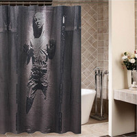 "Han Solo in Carbonite Custom Shower curtain,Sizes available size 36""w x 72""h 48""w x 72""h 60""w x 72""h 66""w x 72""h"