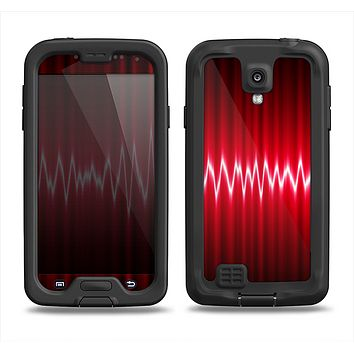 The Glowing Red Wiggly Line Samsung Galaxy S4 LifeProof Fre Case Skin Set