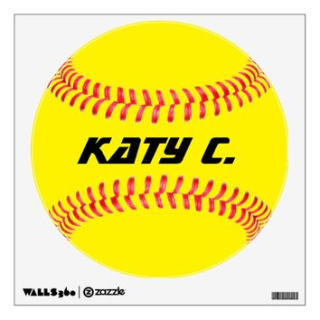 Custom Softball Wall Decal
