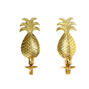 Pineapple Wall Sconce Candle Holder Pineapple Candle Holder Pineapple Wall Decor Brass Pineapple Wall Decor