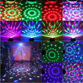 Magic Color Led Stage Lights KTV DJ Chirstmas Lamps 3W Sound Actived Crystal Disco Ball Xmas Holiday Party Room decor Trendy TR