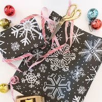 Specialty Wrapping Sheets - Snowflake Pattern