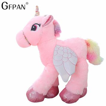 1pc 50/60cm Kawaii Unicorn Plush Toys Giant Stuffed Animal Horse Toys for Children Soft Doll Home Decor Lover Birthday Gift
