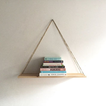 Handmade Hanging Shelf - Pallet, Wood, Rustic, Decor, Beach, Home, Repurposed, Furniture, Book Shelf, Floating Shelf, Industrial Shelf