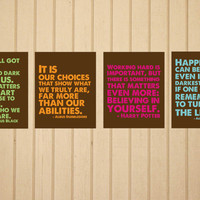 Harry Potter Quote Set FIVE 8 x 10 Prints