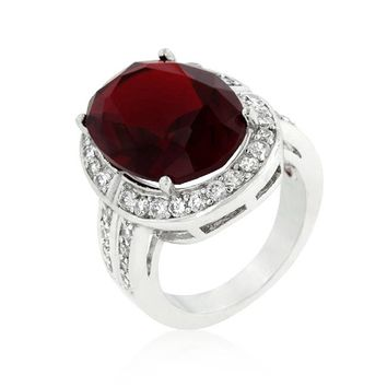 WildKlass Ruby Red Cocktail Ring