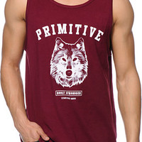 Primitive Spirit Burgundy Tank Top