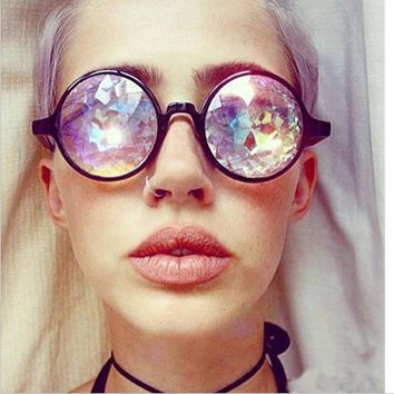 WEREWOLF Fashion Sunglasses Retro Round Oliver Peoples Glasses Men Women Designer Kaleidoscope Glasses Cosplay goggles porta