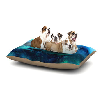 "Josh Serafin ""Dolphin"" Blue Teal Dog Bed"