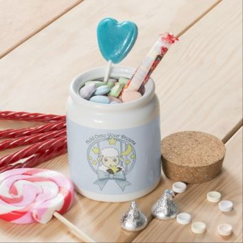 Cute Animal Girly Candy jars for Kids: Little Lamb, Moon, and Stars: Sweet Gift Idea for Girl Birthday or Baby Shower