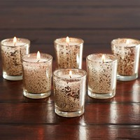 Mercury Glass Votive Candle, Set of 6