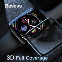 0.3mm Protective Glass For Apple Watch 4 Full Coverage Tempered Glass For iWatch 4 Screen Protector Scratch Proof Film 9H
