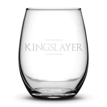 Premium Wine Glass, Game of Thrones, Kingslayer, 15oz