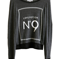 LOVE POTION NO 9 - BAGGY BEACH JUMPER at Wildfox Couture in -CLEAN WHITE, - CLEAN BLACK