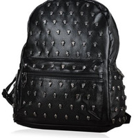 Skull Riveted Faux Leather Backpack