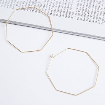 Octagon Geometric Hoop Earrings