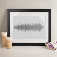 Personalised Song Sound Wave Print | GettingPersonal.co.uk