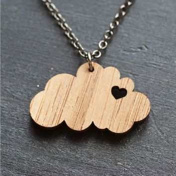 Catch a Cloud Bamboo Necklace - Made in the USA