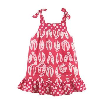 Fair Trade Baby Ladybug Pocket Dress - Pink