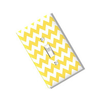 Yellow Chevron Light Switch Cover Plate Homemade Multi Toggle Kitchen Dining  Home Decor Houseware
