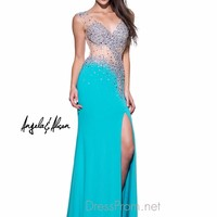 Illusion Beaded Bodice Angela & Alison Formal Prom Gown 51052