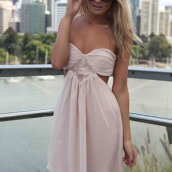 STRAPLESS CUTOUT DRESS , DRESSES, TOPS, BOTTOMS, JACKETS & JUMPERS, ACCESSORIES, SALE, PRE ORDER, NEW ARRIVALS, PLAYSUIT, Australia, Queensland, Brisbane
