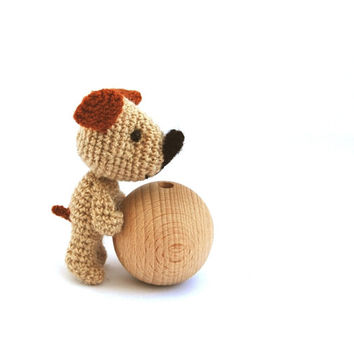 amigurumi dog, plushie little dog, crocheted dog, stuffed dog, pet, beagel dog, little cute animal farm life miniature dog gift for children