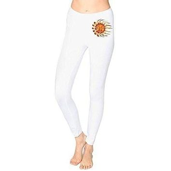 Ladies Sleeping Sun Cotton/Spandex Leggings