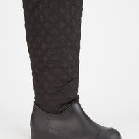 Dirty Laundry Pinnacle Womens Rain Boots Black  In Sizes
