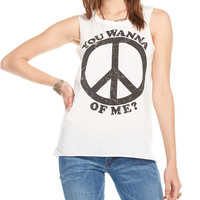 Peace of Me Muscle Tank Top