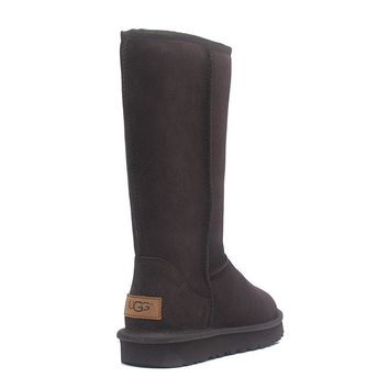 """UGG"" Women Man Fashion Wool Snow Boots simple high long boots"