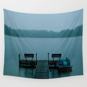 Hunky Dory Dock Wall Tapestry by Lindsey Jennings Photography