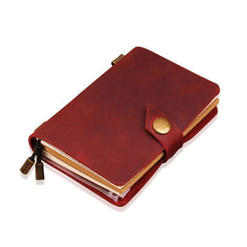 Hand Crafted Refillable Leather Notebook - Journal Sketchbook - Leather Dairy - Leather Traveler's Notebook