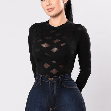Edges That Scratch Bodysuit - Black