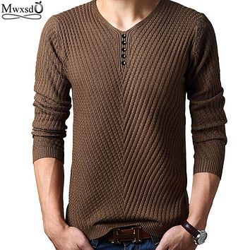 2017 Spring autumn Brand men Casual sweater mens Cashmere Wool Pullover christmas sweater men Dress Knitted Sweater Clothing