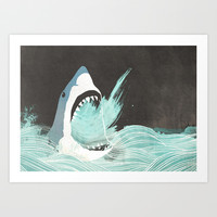 Great White Art Print by Chase Kunz