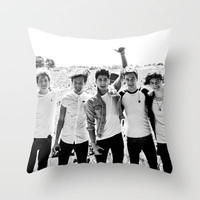 1Direction Lads on Stage  Throw Pillow by Karl Wilson Photography