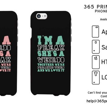 Weirdo Freak Cute BFF Matching Phone Cases For Best Friends Great Gift Idea
