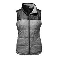 The North Face Pseudio Full Zip Vest for Women in TNF Dark Grey Heather NF0A2THC-FLC